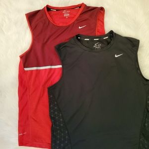 Set of 2 NIKE Running tank tops, M